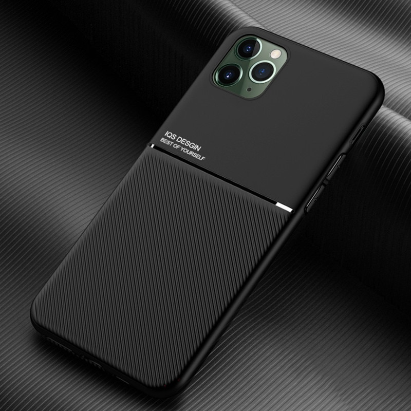 Ultra-thin IPhone 12 Phone Cases Silicone Soft Shell Protective Cover for IPhone 12 Pro Max Mini Solid Color Moire Magnetic Case enlarge