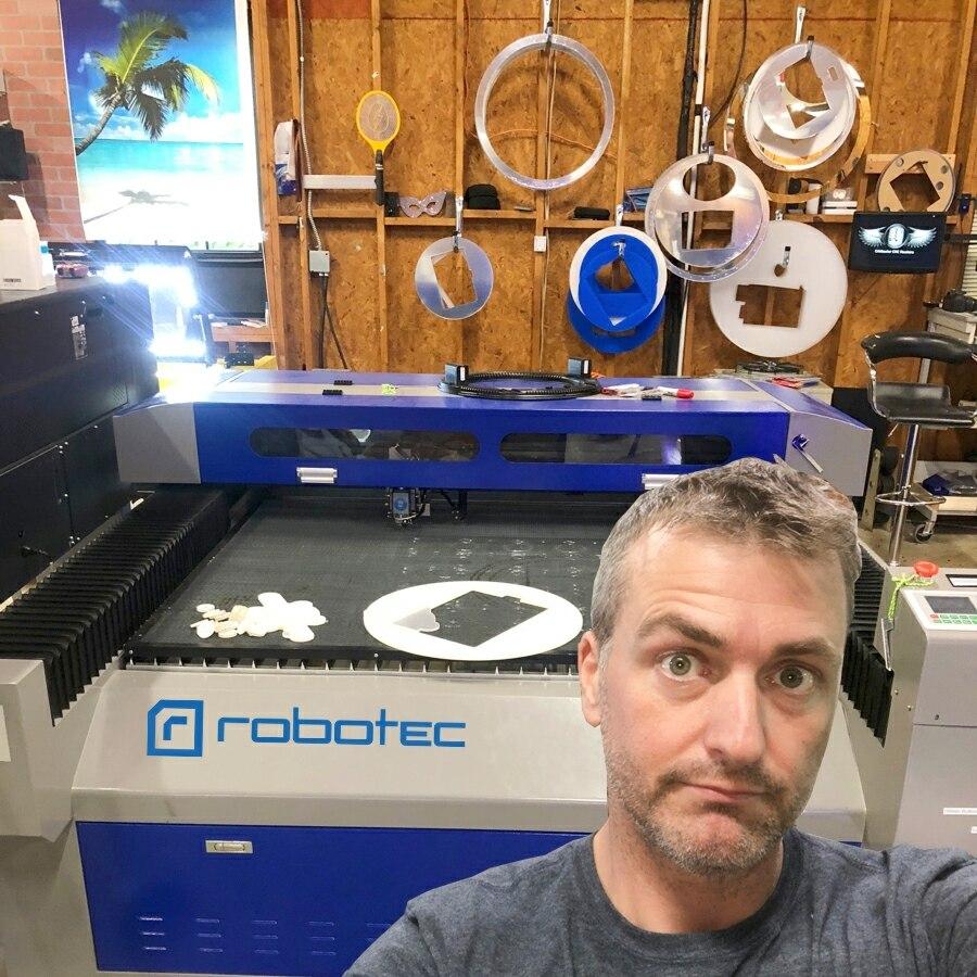 2021 ROBOTEC Co2 الليزر 130w 150w 260w 280w 300w قطع الفولاذ المقاوم للصدأ آلة/سمك رقيقة ماكينة قطع المعادن بالليزر