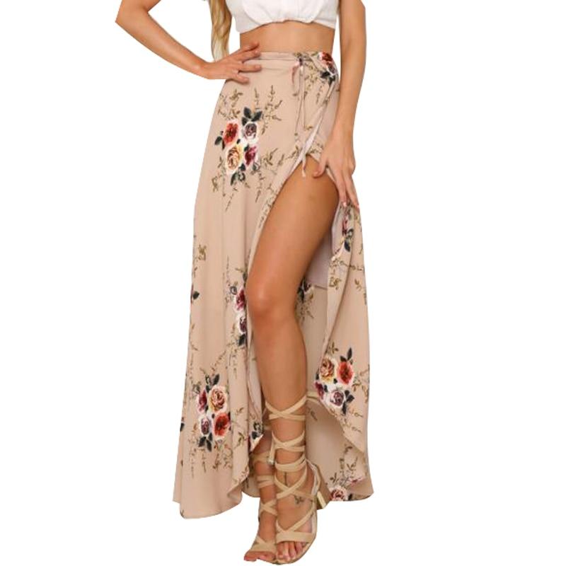 Falda larga Vintage Floral para mujer, falda larga, Bohemia, de imitación, P29,...
