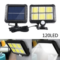 120 LED Solar Garden Light IP65 Waterproof Human body Induction Light COB Chip Solar Wall Lamp Energy saving Yard Street Light