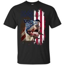 4 lipca dzień niepodległości Pitbull amerykański mężczyzna koszulka S-3Xl koszulka Oversized Shirt