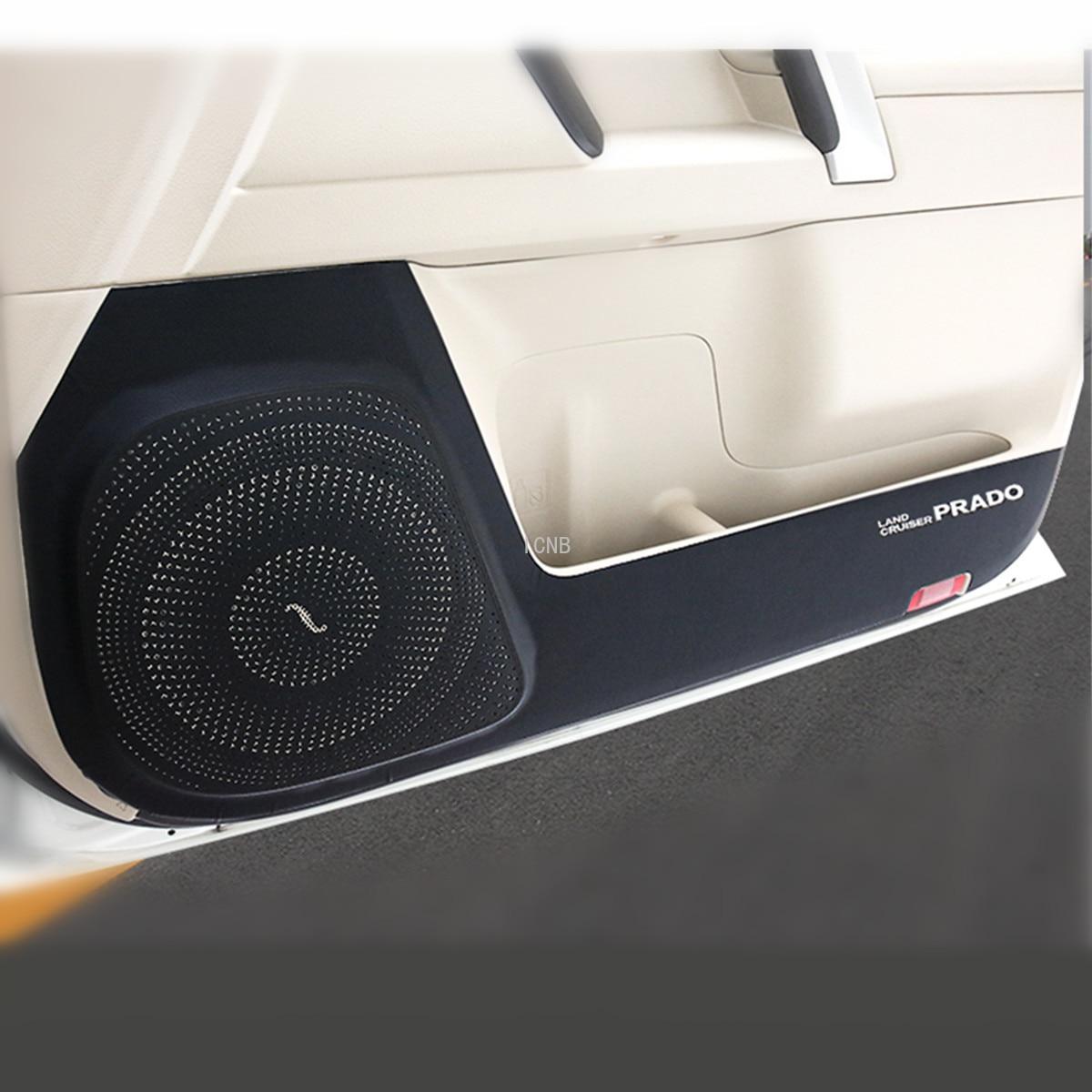 Para Toyota Land Cruiser Prado 150, 2010, 2011, 2012, 2013, 2014, 2015, 2016, 2017, pegatina antigolpes de cuero auténtico para puerta