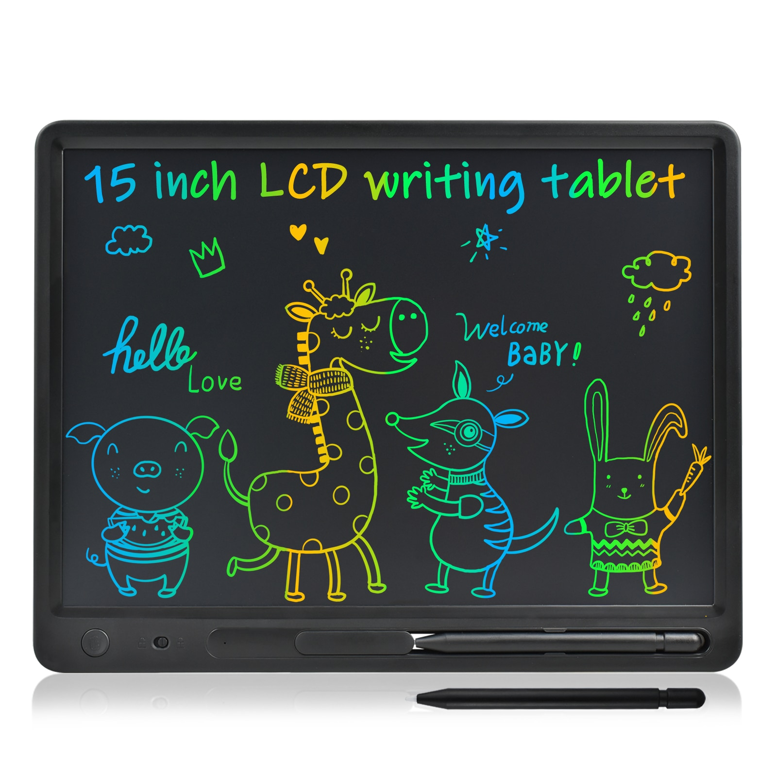 15/16/21Inch LCD Writing Tablet Drawing Graffiti Doodle Board Toys Smart Paper For Kids&Adults Birth