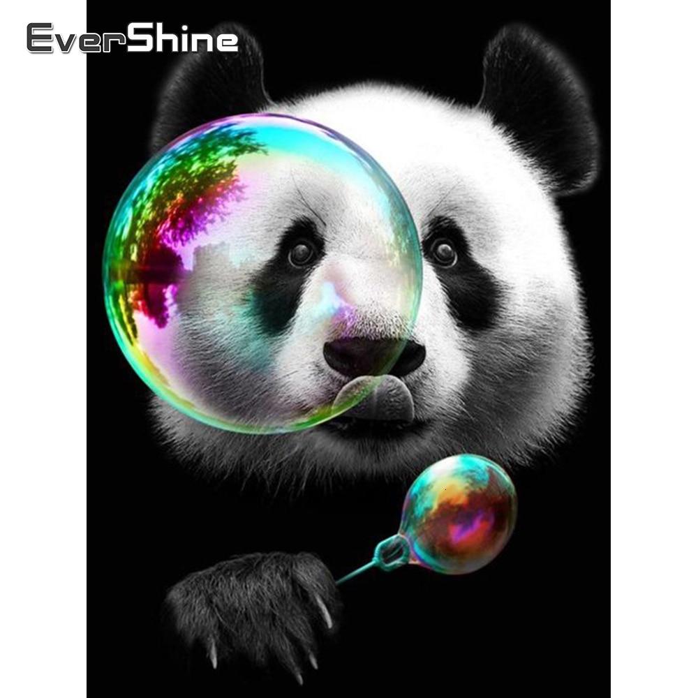 Evershine Full Square Drill 5D DIY Diamond Painting Animal Panda Embroidery Cross Stitch Kit Home Decor Handicraft Gift