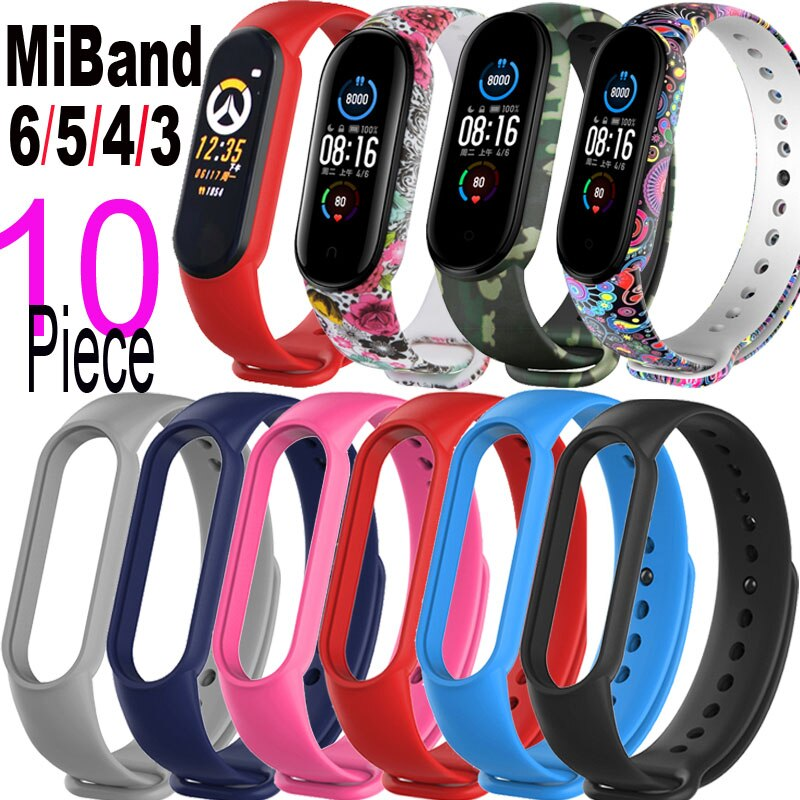 Wristband For Xiaomi Mi Band 6 Bracelet Screen Protector Miband 5 6 4 3 Protective Film Miband6 Miband5 Silicone Wrist Strap