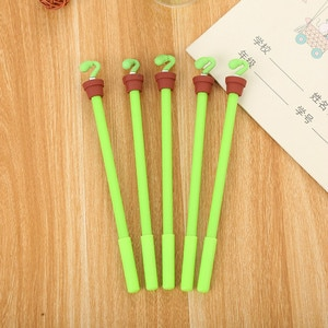 35PCS Creative Stationery Simulation Vegetable Neutral Pen Cute Learning Supplies Cartoon Pen Potted Model Office Gel Pen