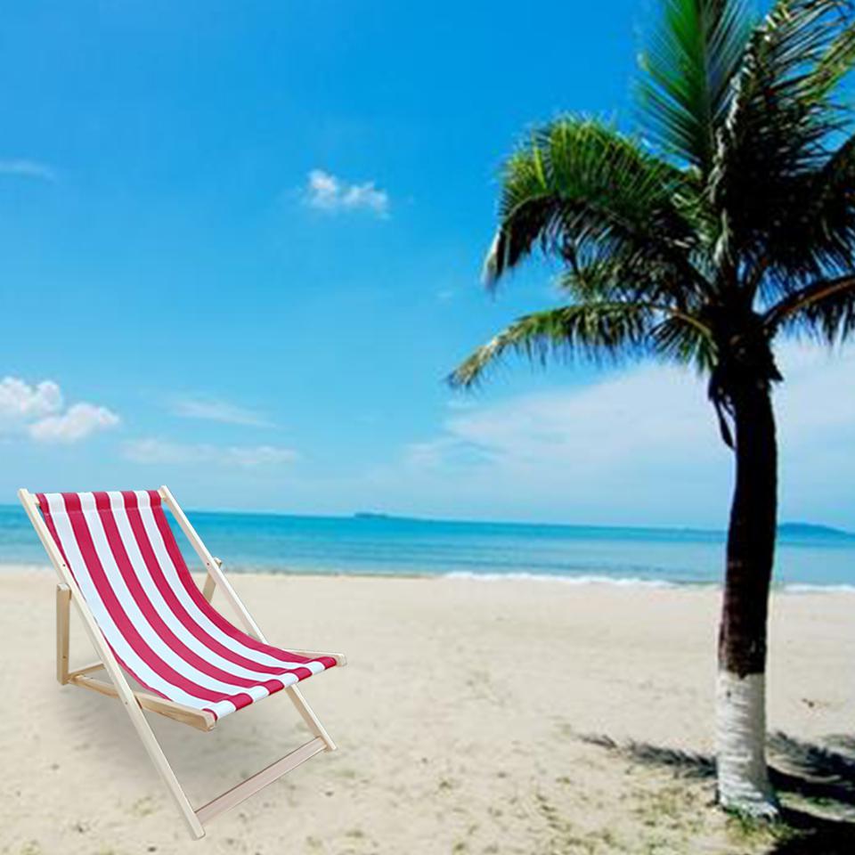 Silla de playa plegable con 3 niveles reclinables para relajarse en el jardín junto al mar
