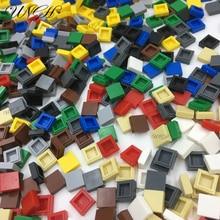 700 stücke DIY Kreative 1X1 Flache Abdeckung Platz Bausteine Kompatibel Lego Größe Ziegel City Creator Bau Kinder Spielzeug