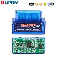 Считыватель кодов Obd2, компактный диагностический сканер с Bluetooth, совместимый с OBD2, инструмент для ремонта автомобиля