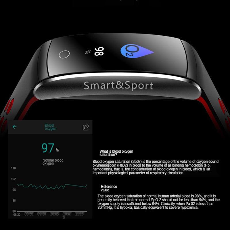 men and women era smart watch bracelet heart rate monitoring pedometer health monitoring large screen waterproof sports K12