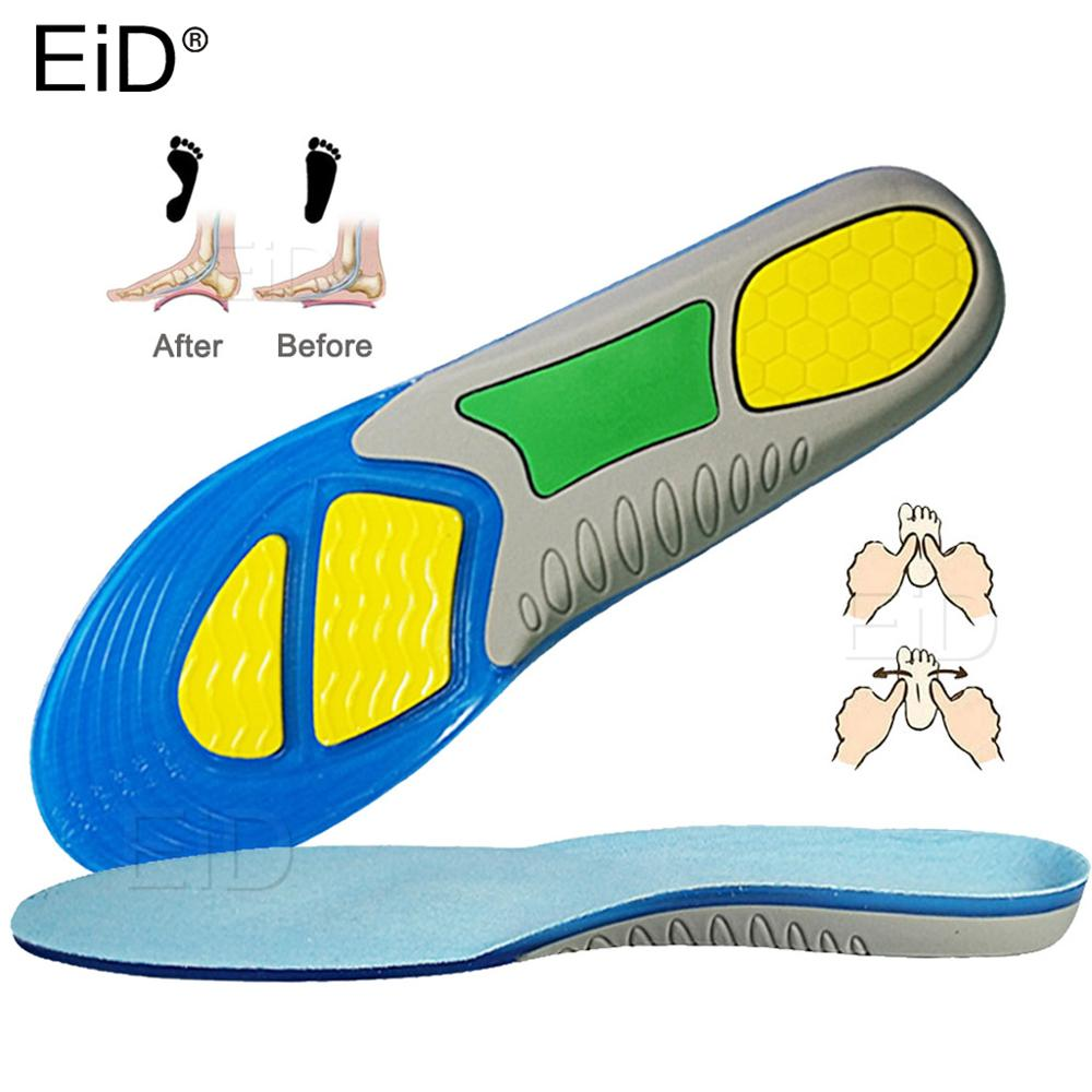 silicone non slip gel soft sport shoe insoles massaging insole orthopedic foot care for feet shoes sole shock absorption pads EiD Silicone Gel Insoles Foot Care for Plantar Fasciitis orthopedic Massaging Shoe Inserts Shock Absorption Shoe pad man women