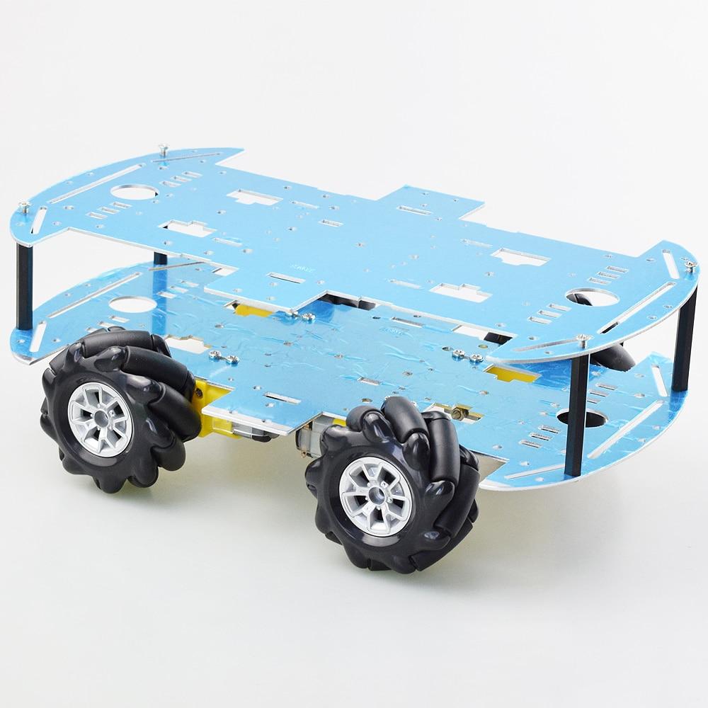 أرخص Mecanum عجلة اومني اتجاهي سيارة روبوت هيكل عدة مع 4 قطعة موتور TT لاردوينو التوت بي لتقوم بها بنفسك أجزاء لعبة