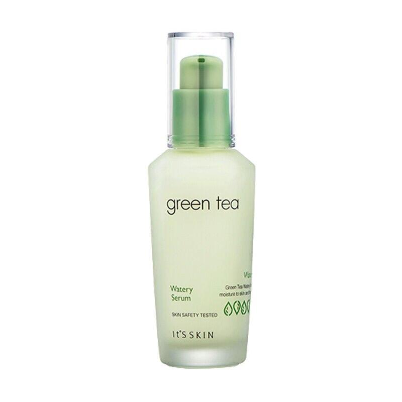 Pele de its chá verde soro aquoso 40ml tratamento acne facial soro remoção cravo branqueamento essência hidratante cuidados com a pele
