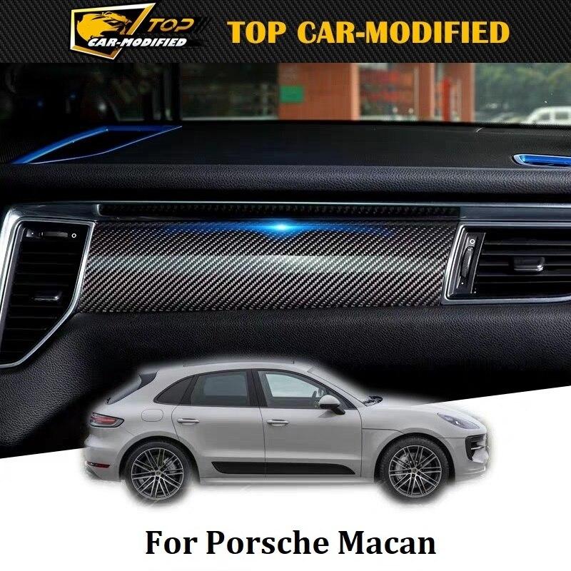 For Porsche Macan 100% Dry Carbon Fiber Automotive Interior Sticker Moulding Decoration Accessories Door Interior Suite Kit