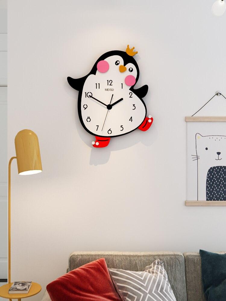 Silent Wall Clock For Kids Rooms Simple Nordic Cute Wall Clock Modern Design Orologio Da Parete Clocks Wall Home Decor BK50BG