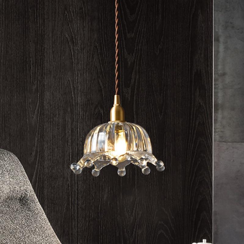 Luces colgantes de cristal Retro, luces traslúcidas creativas, estilo europeo, accesorios de...