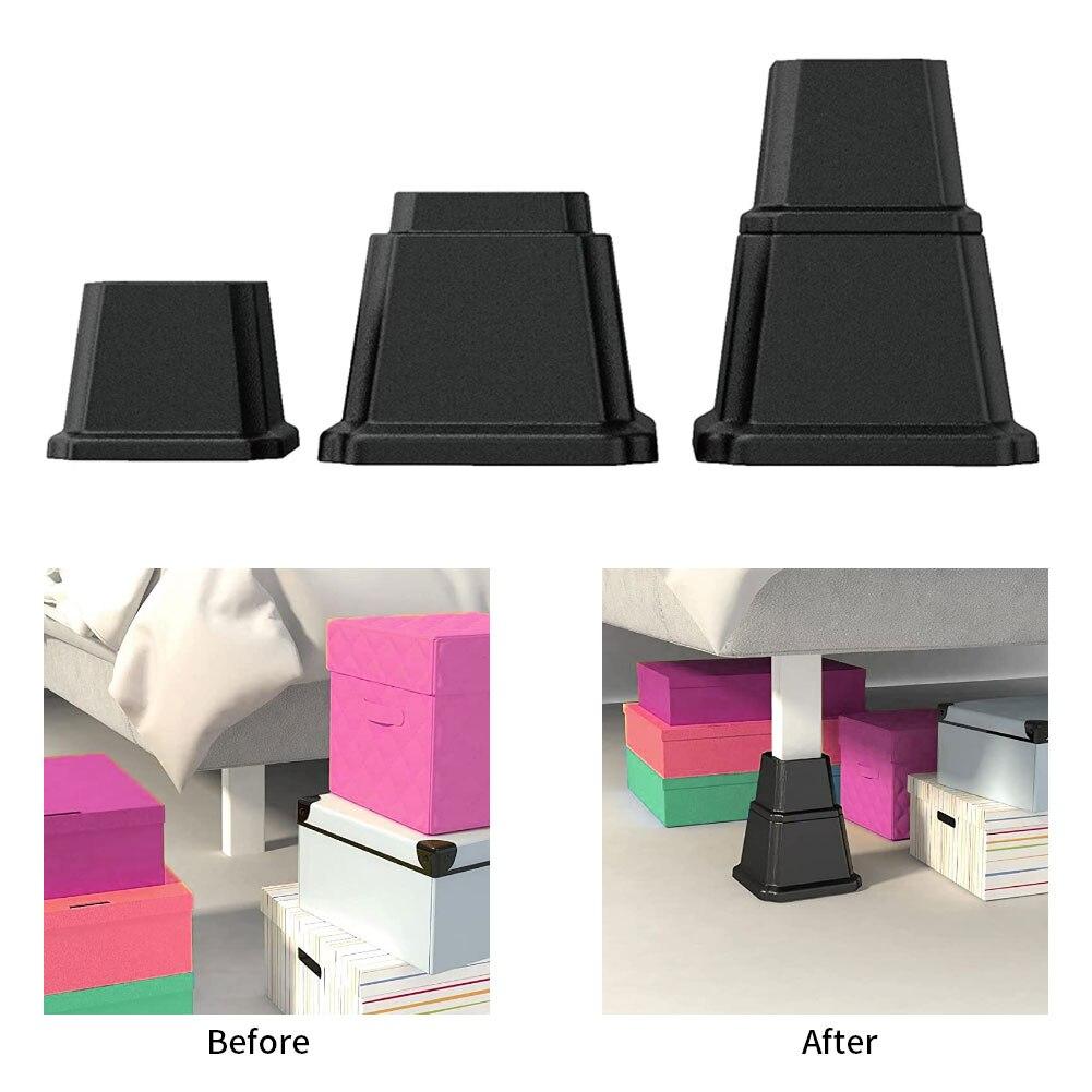 8 шт. подъемники для кровати, сверхмощные регулируемые подъемники для мебели, подъемники для дивана, стола, 4 дюйма, 3 дюйма и 4 дюйма, большие 5-...