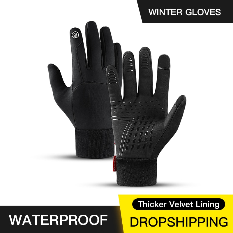 Hot Sale Winter Outdoor Sports Running Glove Warm Touch Screen Gym Fitness Full Finger Gloves For Me