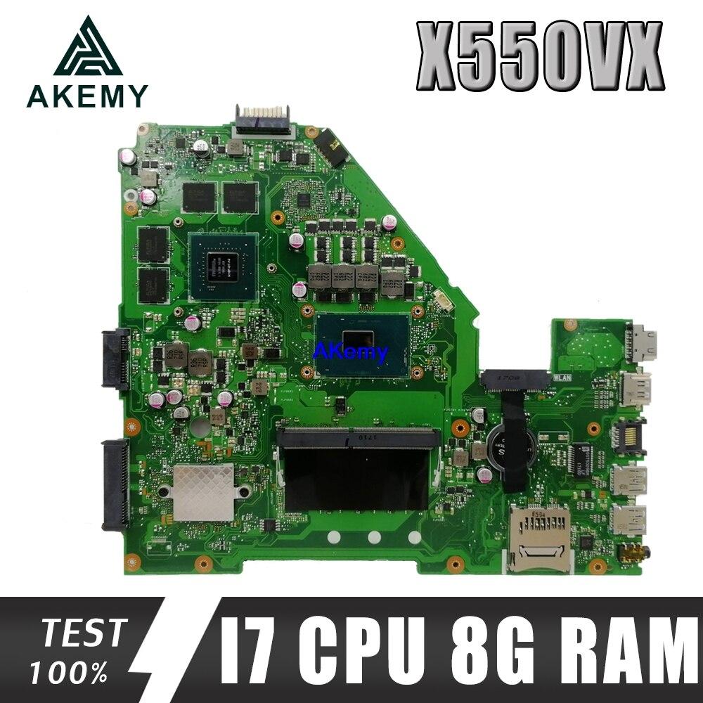 Placa base para portátil X550VX GTX950M 8G RAM I7-6500HQ para ASUS X550VX X550VQ W50V FH5900V prueba X550VX placa base ok