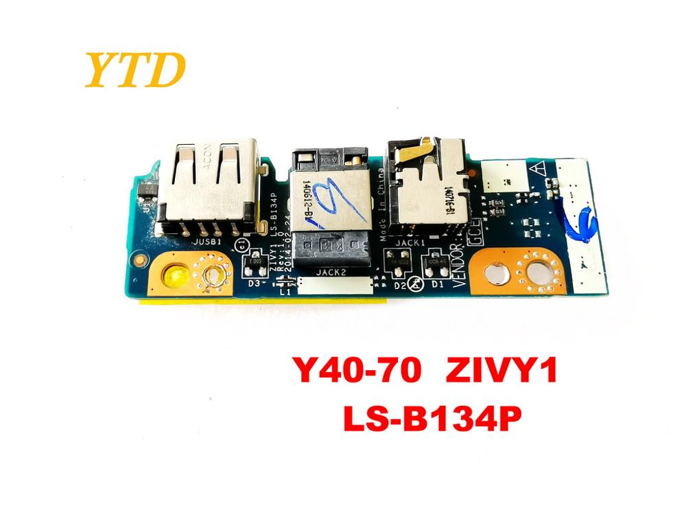 Original para lenovo Y40-70 placa usb placa de áudio Y40-70 zivy1 LS-B134P testado bom frete grátis