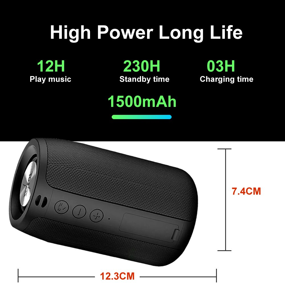 Portable Speakers Box Bluetooth Wireless Mini Small Metal Sound Music Outdoor Stereo Shocked HiFi For TWS Player enlarge
