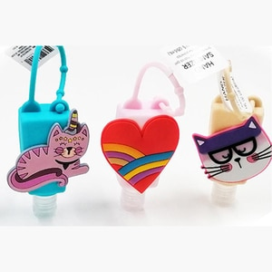 1pc Pocketable Cartoon 30ml Waterless Silicone Bath Body Works Hand Sanitizer Antibacterial Holder With Empty Bottle