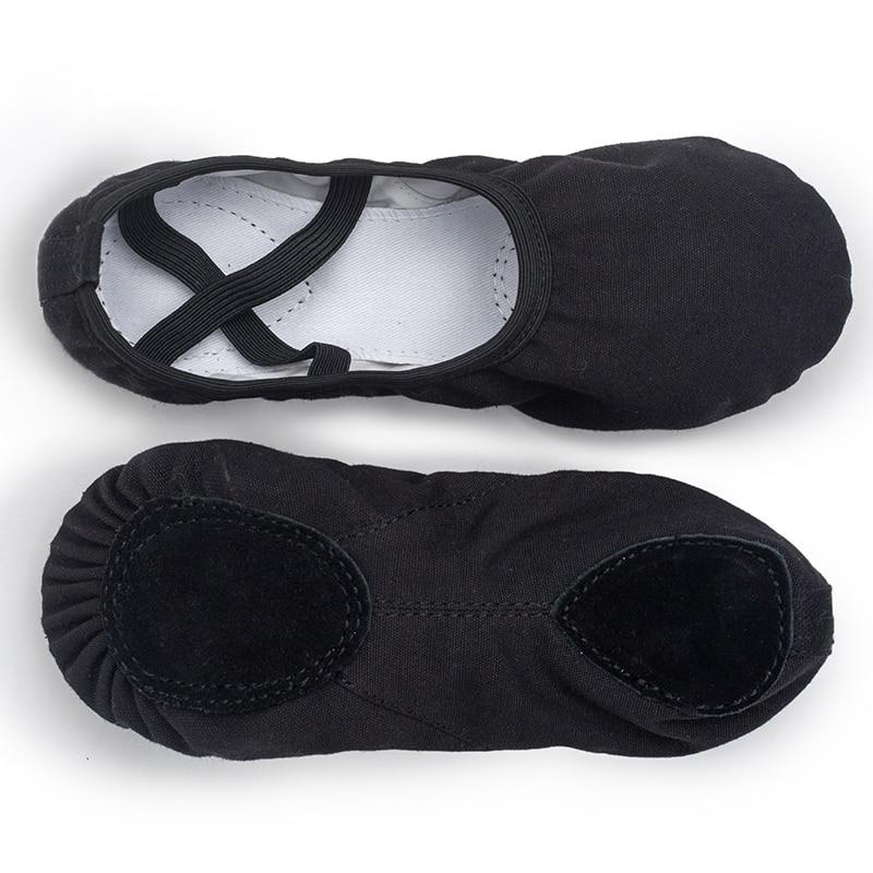 USHINE EU23-45 zapatillas negras de calidad profesional suela blanda de lona vientre yoga gimnasio ballet zapatos niñas mujer hombre bailarina