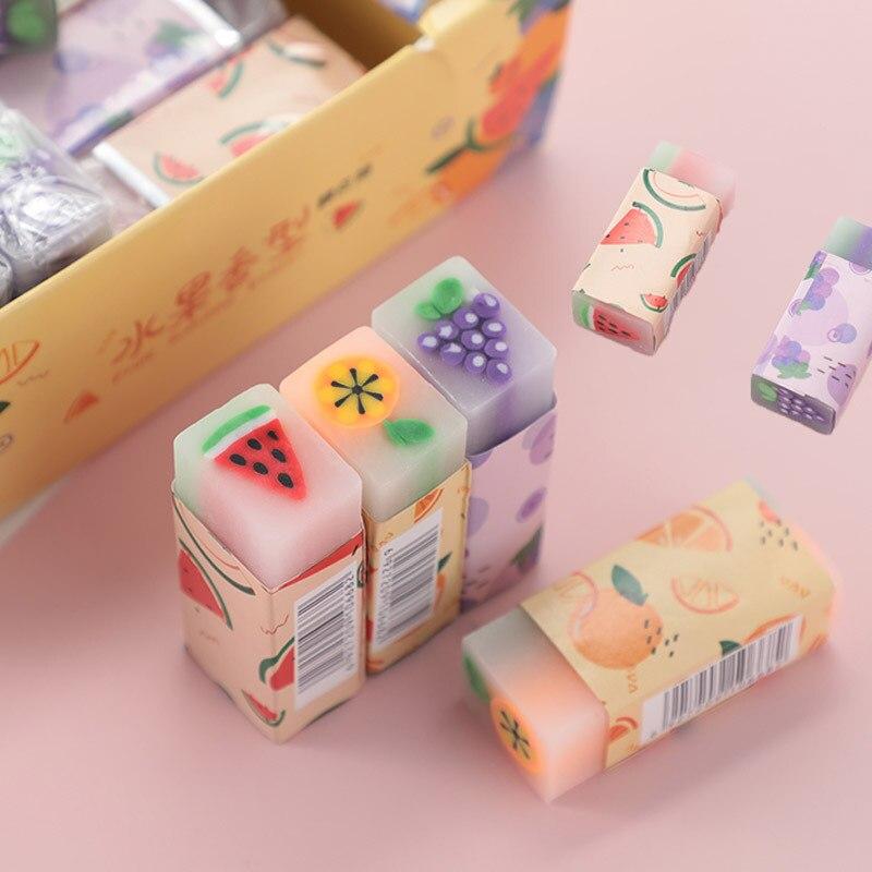 Kreative Nette Frucht Radiergummi Kawaii 2B Bleistift Korrektur Radiergummi Schüler Lernen Büro Schreibwaren