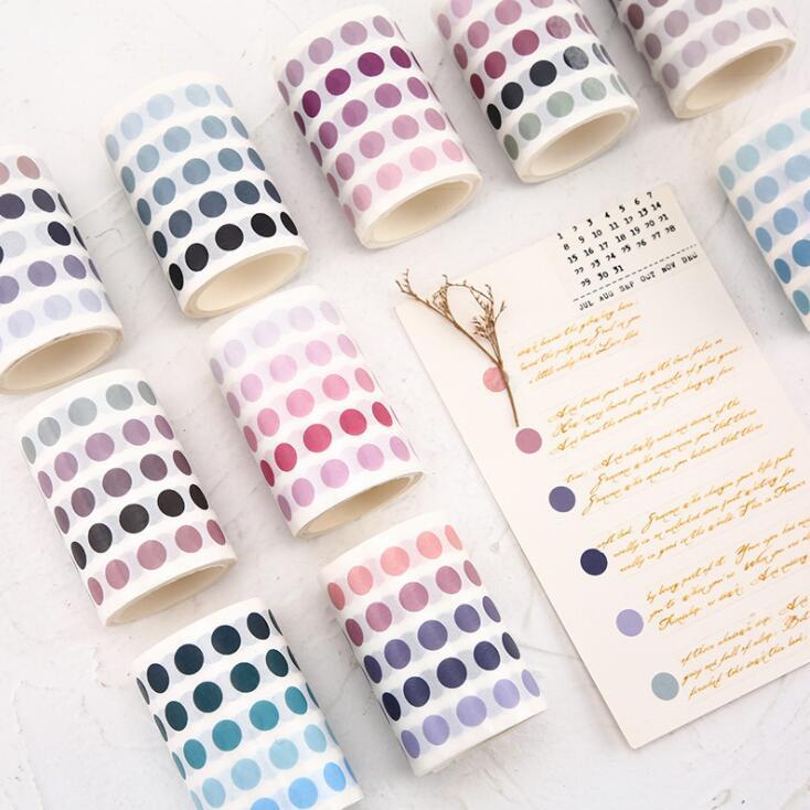 2020 Sharkbang 60mm*3m DIY Salt Base Element Decorative Adhesive Tape Scrapbooking Sticker Label Marker Dot Masking Washi Tape