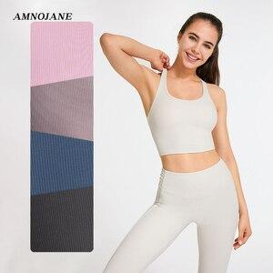 Yoga Top Women Bralette Sports Bra Woman Bras Ribbed Underwear Wireless Brassiere Sport Running I Back White Crop Top Tank Tops