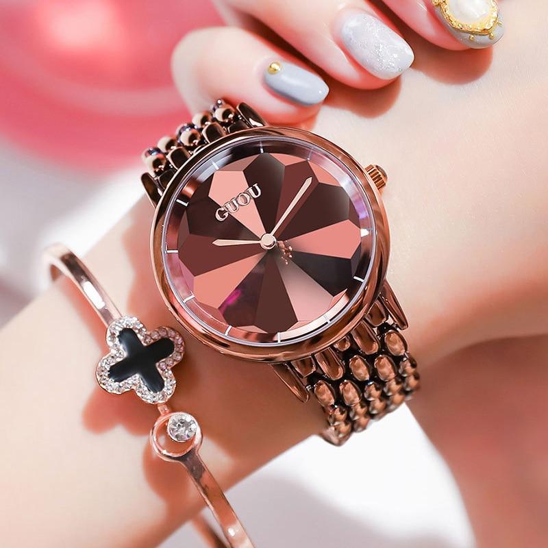 Fashion Women Leather Casual Watch Luxury Analog Quartz Crystal Wristwatch Casual Female Wristwatch Luxury 2019 zegarki damskie enlarge