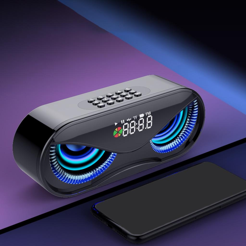 Hot Sales Bluetooth 5.0 Speaker Portable Loudspeaker Wireless Outdoor Handfree Call Multifunction Speaker with FM Radio Clock TF enlarge