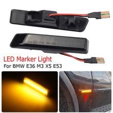 For BMW X5 E53 3 Series E36 Flowing Side Wing Marker LED Dynamic Turn Signal Light Blinker Startup Breath Light