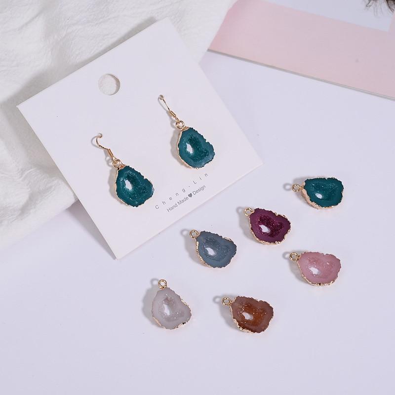 10pc hollow geometry shape color handmade DIY pendant Earring Ear Stud Hoop Necklace Bracelet Jewelry materials Accessories