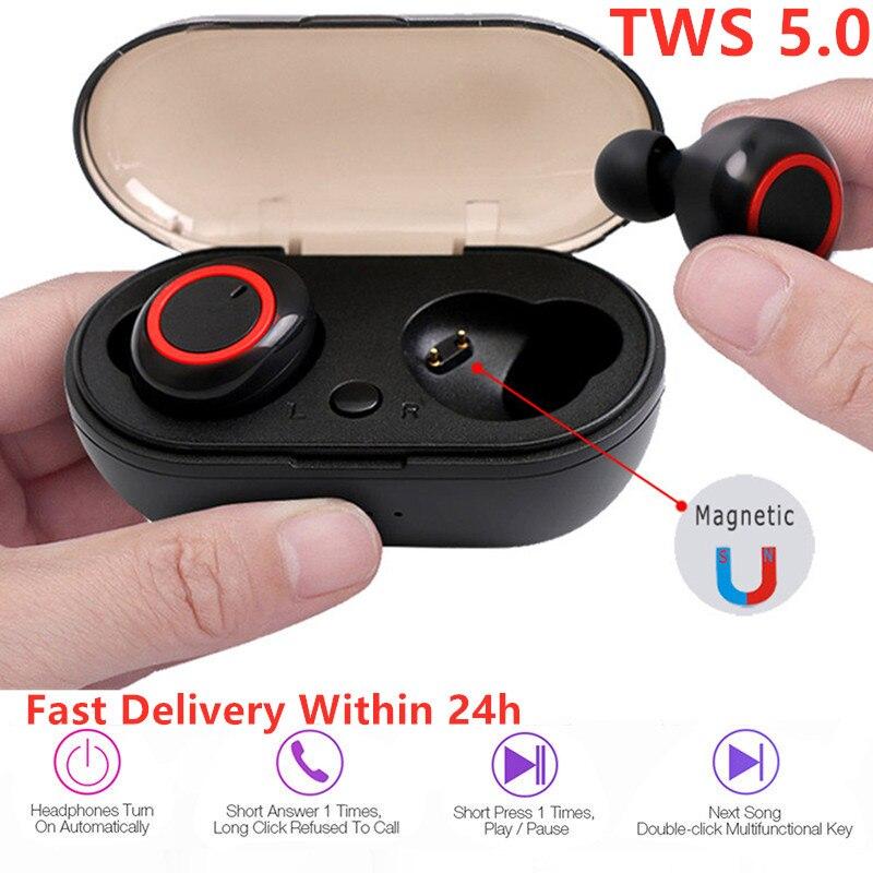 A2 TWS Bluetooth 5.0 Headphone Wireless Stereo In-Ear Earbuds Earphones Handsfree Touch Control Head