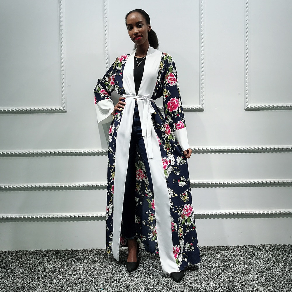 Хиджаб мусульманское платье женское пальто абайя кимоно кардиган Сауди турецкий ислам одежда Кафтан Дубайский кафтан Катара халат Musulmane Femme