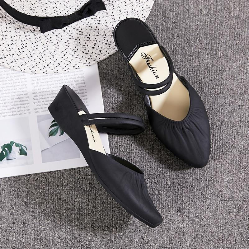 Sharp Slipper Woman Leisure Waterproof With Non-slip Beach Sandals Women Dual Purpose Soild Color Summer Shoes