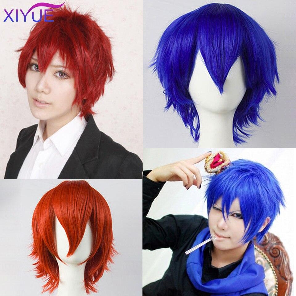 Peluca de Cosplay Universal de pelo corto sintético esponjoso de Bob, rojo, plata, gris, dorado claro, amarillo, verde, rosa, púrpura, naranja y blanco