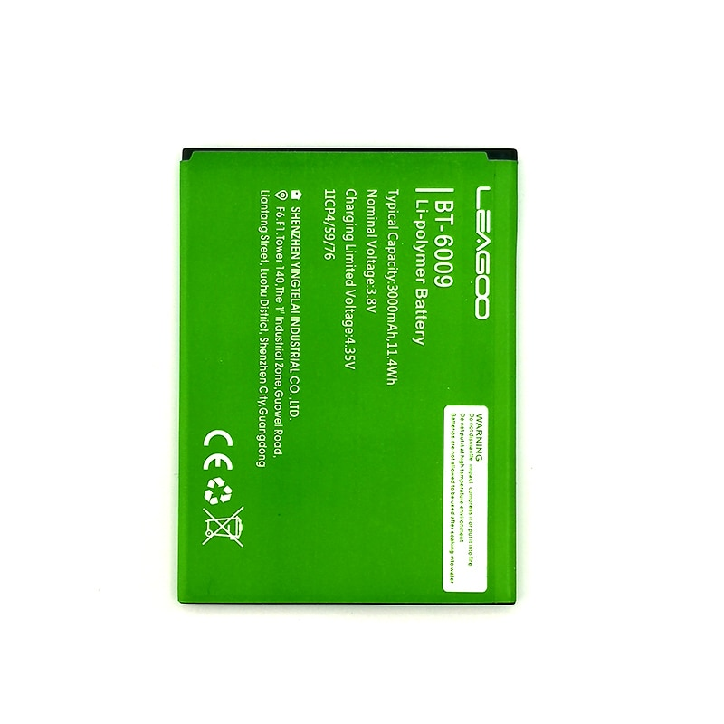 100% Original 3000mAh BT-6009 Battery For LEAGOO M13 Mobile Phone Latest Production High Quality Battery+Tracking Number недорого