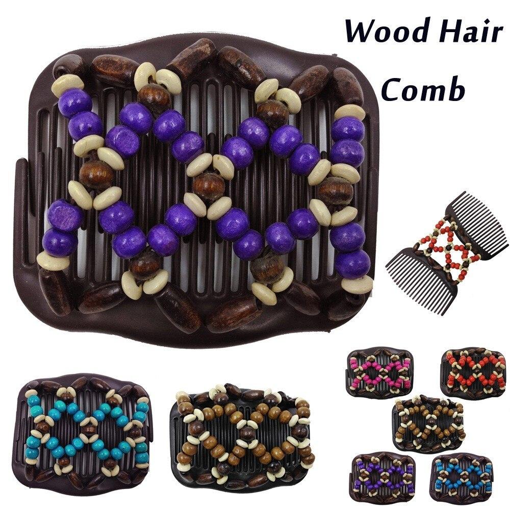 Retro dos cuentas para el cabello, pinza mágica para el cabello, horquilla elástica, peines elásticos para el cabello, horquillas para mujer, accesorios para el cabello, gran oferta
