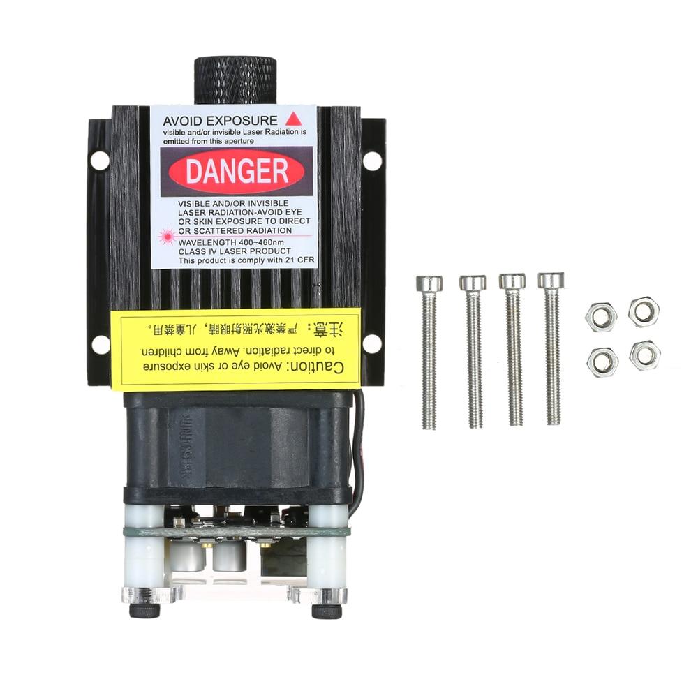 Módulo láser azul de 300mw/500mw/1600mw/2500 EleksMaker 405-445NM mw, modulación 5500-3P TTL/PWM para grabado láser DIY