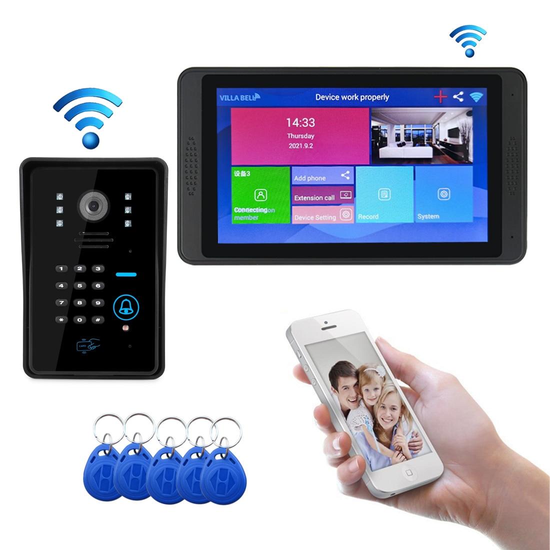 Video Intercom Wifi IP Camera Video Door Phone Support Face Recognition unlock Smart Phone