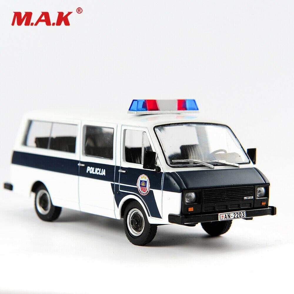 Детская модель, игрушки для мальчиков, масштаб 1/43, литая RAF-22038, полированная машина, русская машина Raf, скорая помощь