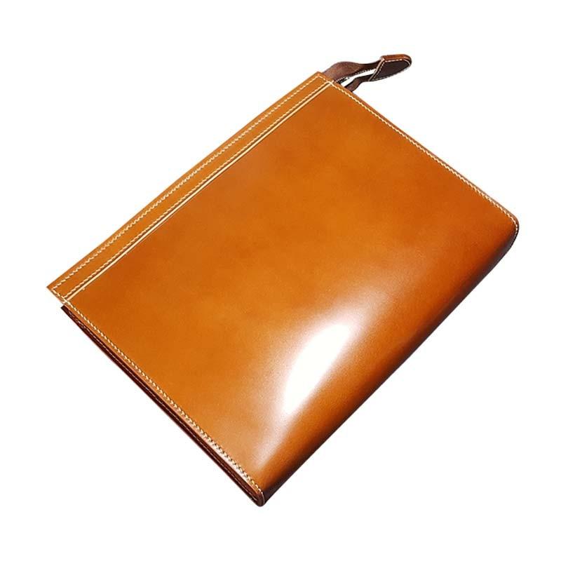 jiangxin Japan  horse hip skin  men clutch bags  Handmade horse leather  men  envelope bag  Hand caught  Female hand bag  custom