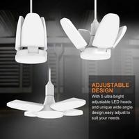 Деформируемая игрушка светодиодный гараж светильник вентилятор 4 лезвия с регулируемым углом наклона 38 Вт E26 потолочные светильники для вы...