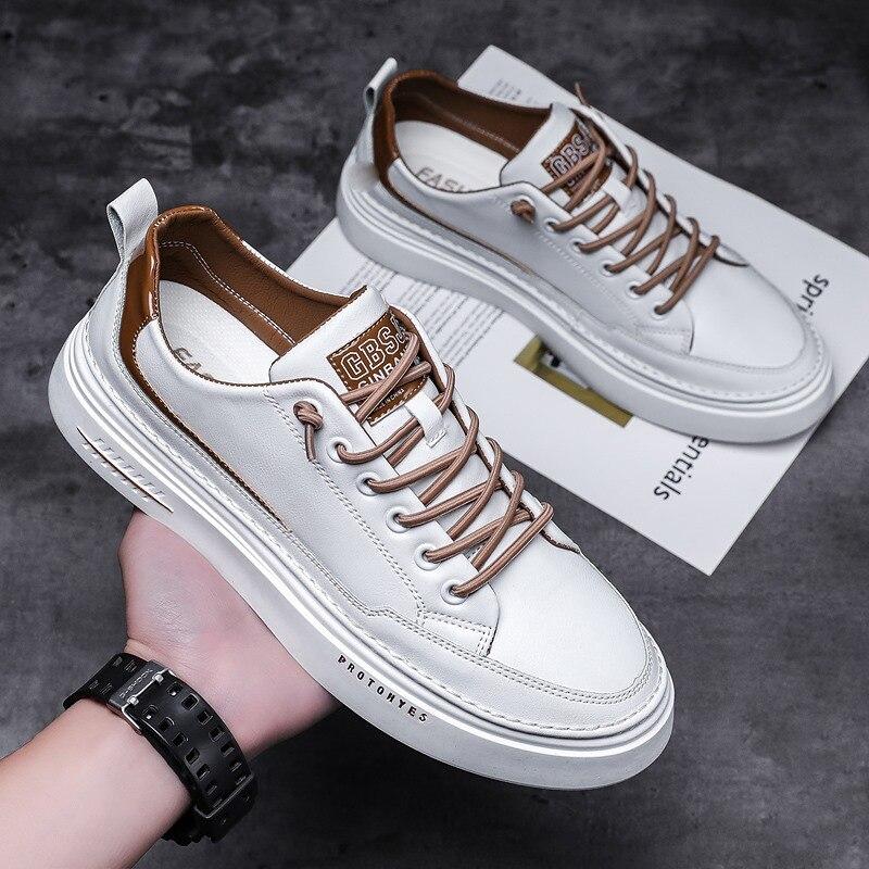 Мужская обувь, новая модная обувь, корейская модная обувь, мужская спортивная обувь, маленькая белая повседневная обувь для доски