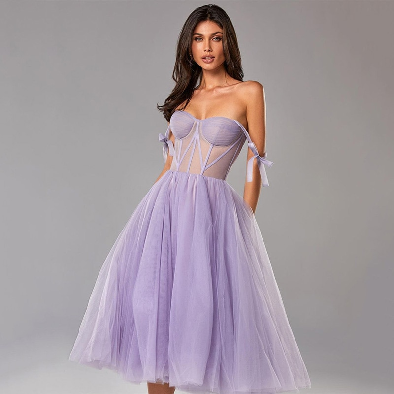 Pink Blue Lilac Prom Dresses Short Cheap Wedding Party Dress Knee Length Bridesmaid Gowns Straps Sweetheart Vestido de Festa