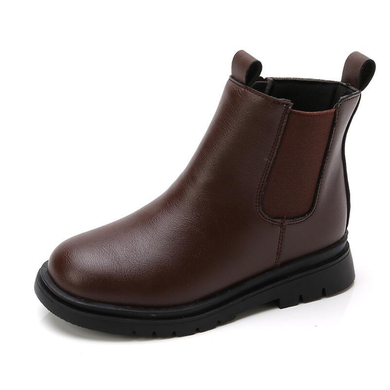 2021 outono inverno criancas botas meninos meninas couro martin botas de pelucia