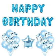 1st 2rd First Birthday Balloons Happy Birthday Set Purple Birthday Party Digital 1 2 Confetti Baby Shower Foil Star Ballon Decor