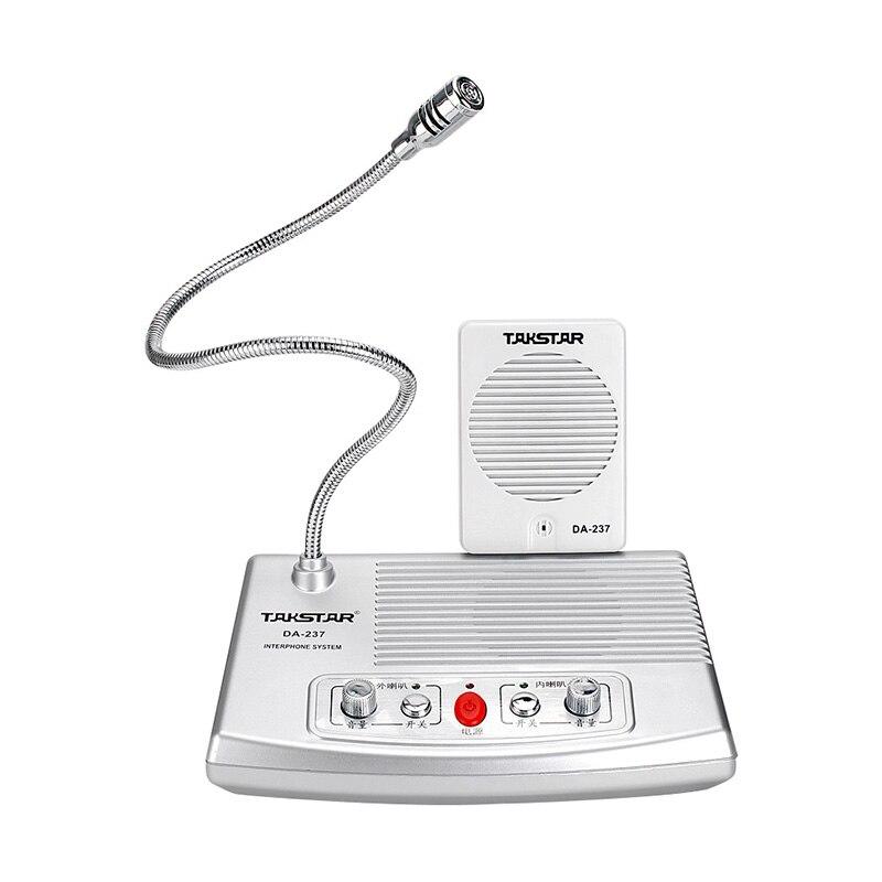 Talk-back sistema quente takstar DA-237 completo-duplex interphone bank & ticket & cash janela sistema de intercomunicação não-visual frete grátis
